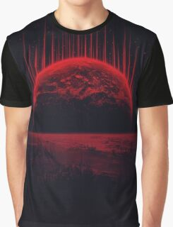 Lost Home! Colosal Future Sci-Fi Deep Space Scene in diabolic Red Graphic T-Shirt