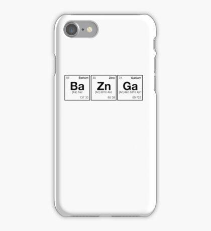 Ba Zn Ga! Periodic Table Scrabble [monotone] iPhone Case/Skin