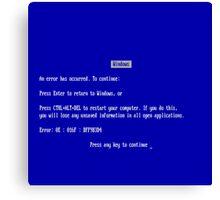 Windows blue screen of death Canvas Print
