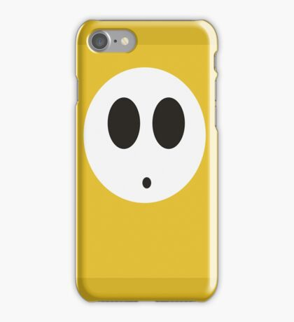 Shy Guy (Yellow) iPhone Case/Skin