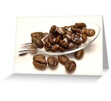 A spoon full of coffee Greeting Card