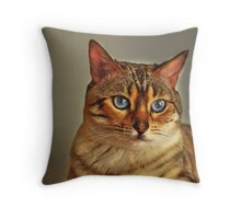 Nala the Snow Bengal Throw Pillow