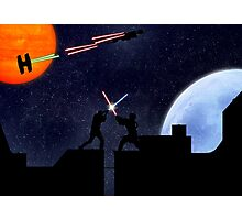 Lightsaber fight Photographic Print