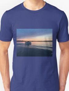 boat at sunset T-Shirt