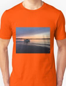 boat at sunset T-Shirt