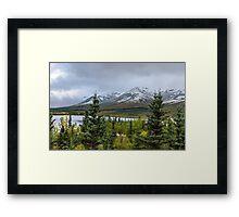 Alaska Mountain Range View Framed Print