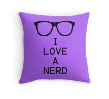 Love Nerds Throw Pillow