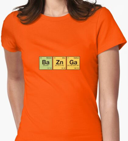 Ba Zn Ga! - periodic elements scramble Womens Fitted T-Shirt