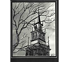 Church Pen and Ink  Photographic Print