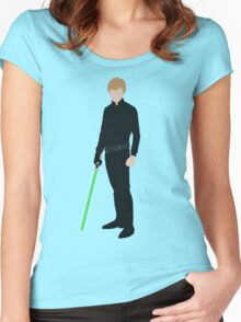 Luke Skywalker 1 Women's Fitted Scoop T-Shirt