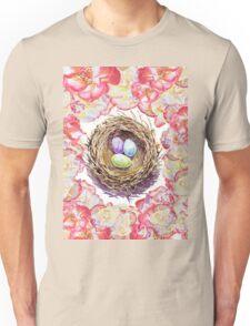 Bird Nest And Roses Unisex T-Shirt