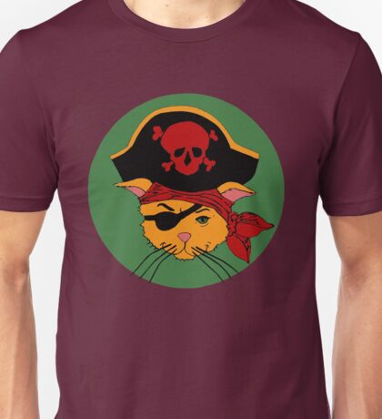 The Dread Pirate Kitty Unisex T-Shirt