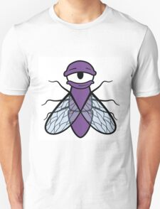 Lazy Purple Fly Unisex T-Shirt