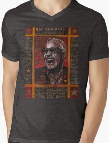 Ray Charles Mens V-Neck T-Shirt