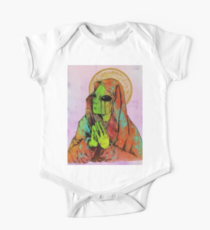 Praying Alien One Piece - Short Sleeve