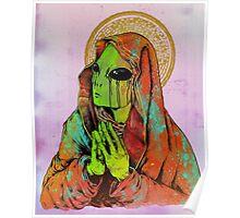 Praying Alien Poster
