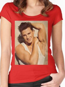 Cute Channing Tatum 2 by rafi Women's Fitted Scoop T-Shirt