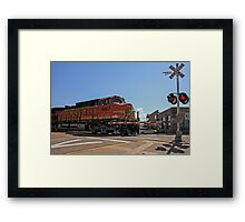 Railroad Crossing BNSF Framed Print