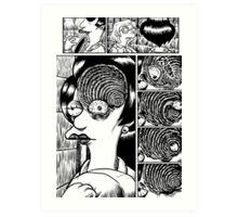 Junji Ito - The Simpsons Art Print