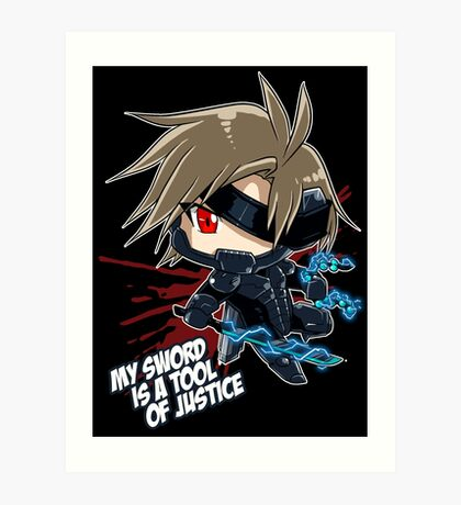 Metal Gear Rising - Raiden Art Print