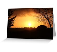 Tonight's Sunset Greeting Card