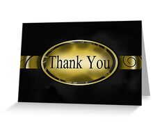 Black & Gold Floral Button Thank You Card  Greeting Card