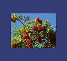 Red Rowan Berries against a Bright Blue Sky Unisex T-Shirt