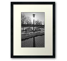 Cold Morning Sunrise Framed Print