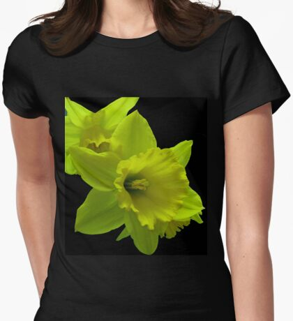 Daffodils Rejoicing Womens Fitted T-Shirt