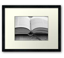 Bible Black and White Framed Print