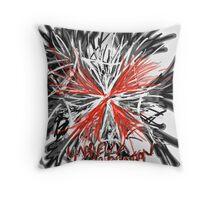 Messy umbrella corporation logo Throw Pillow