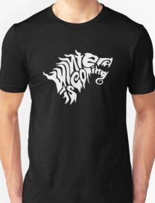 Winter is Coming Typography T-Shirt