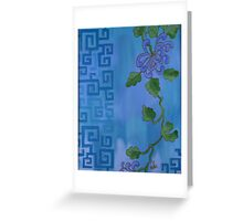 Flower in Blue Greeting Card