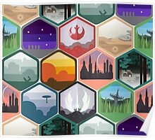 Star Wars - Interlocking Emblem Pattern Poster