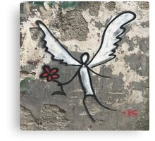 Graffiti Angel Canvas Print