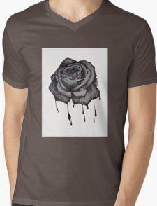 Dripping Rose Mens V-Neck T-Shirt