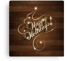 Happy Holiday Christmas And New Year Canvas Print