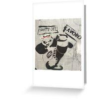 Panda Graffiti Greeting Card