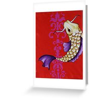 Koi on Red  Greeting Card
