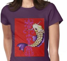 Koi on Red  Womens Fitted T-Shirt