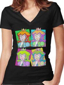 Pop Art Princess Women's Fitted V-Neck T-Shirt
