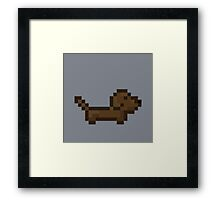 Pixel Dachshund  Framed Print