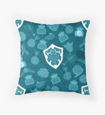 OOT Pattern Blue Throw Pillow