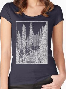 Carbon Canyon Redwood Grove Trail Women's Fitted Scoop T-Shirt