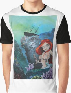 The Shipwreck Mermaid Graphic T-Shirt