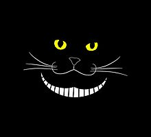 Smiling Cheshire Transparent Cat by HumusArt