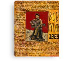 Dylan 1963 Canvas Print