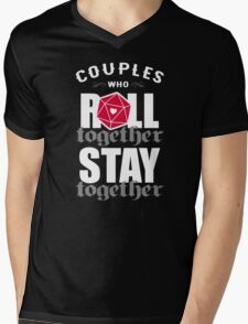 Couples who roll together, stay together D20 Mens V-Neck T-Shirt