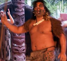 "Maori ""Warrior"" at Hangi by Yukondick"
