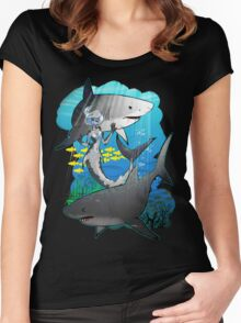 GreatWhites Women's Fitted Scoop T-Shirt